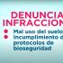 PLATAFORMA CURBA | DENUNCIAS DE INFRACCIONES